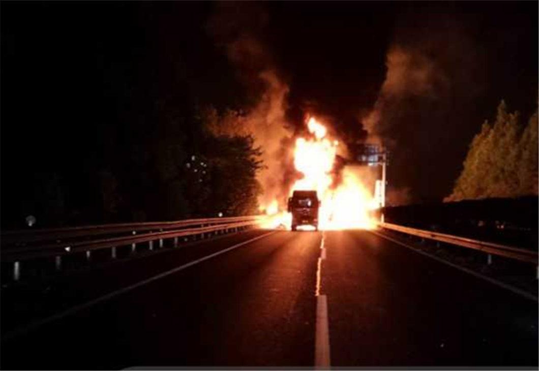 Nine killed, 3 cars burned in Hangzhou road accident