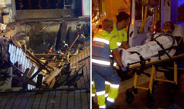 Hundreds injured as platform collapses in Spain