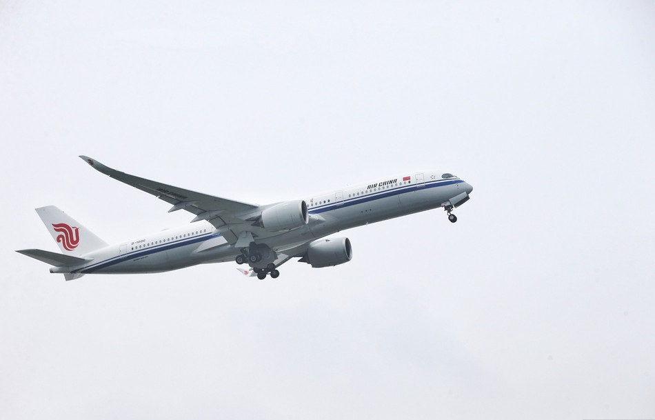 Air China's first Airbus A350-900 takes maiden flight from Beijing to Shanghai