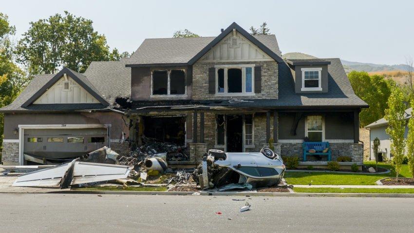 Utah Man Crashes Plane Into His Own House