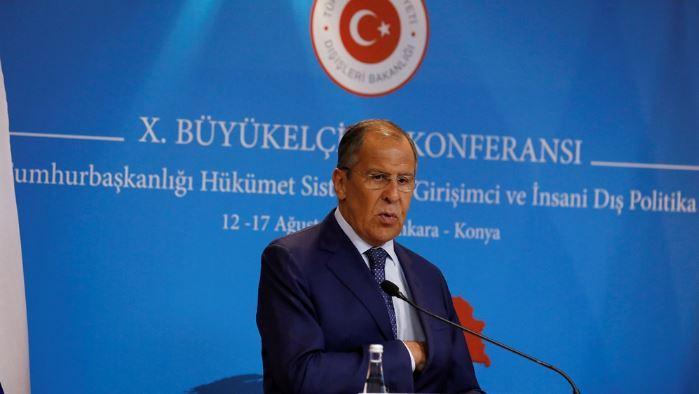 Russia's Lavrov, in Turkey, calls US sanctions policy illegitimate