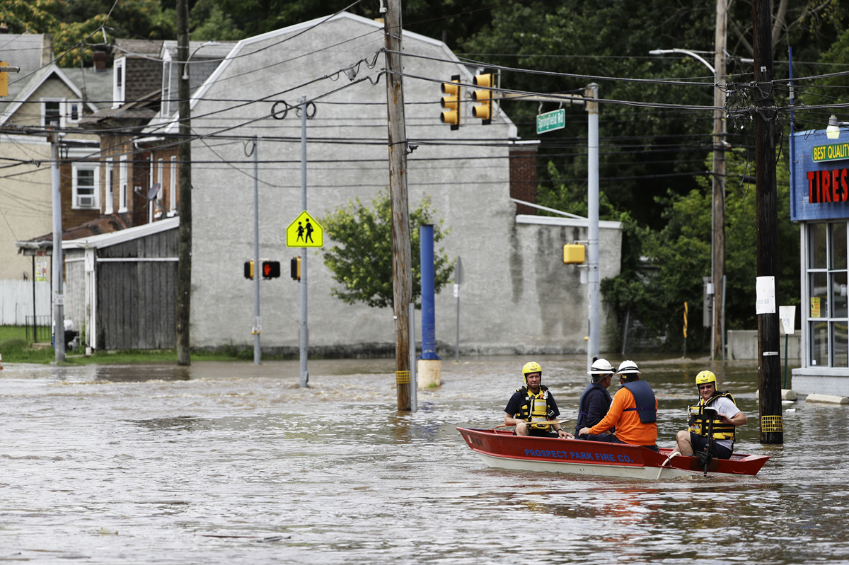 Heavy rains prompt rescues, confusion in Pennsylvania