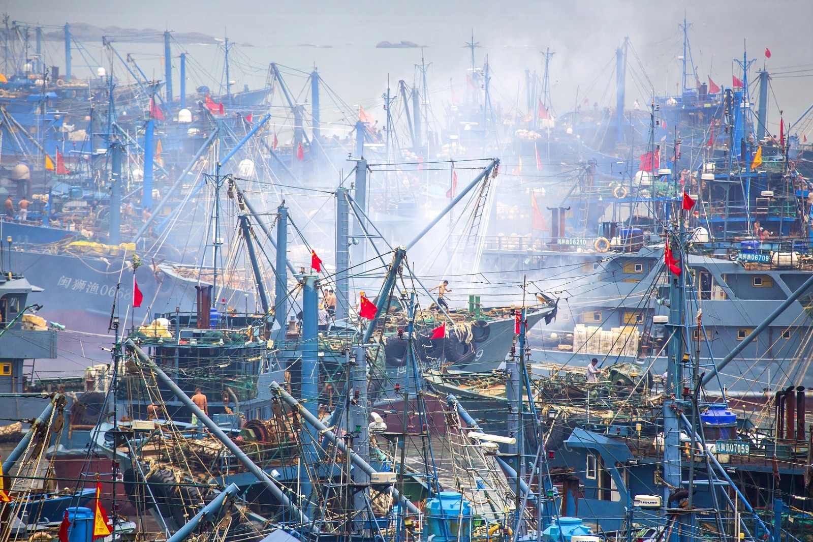 Chinese fishermen gear up for the fishing season in Fujian Province