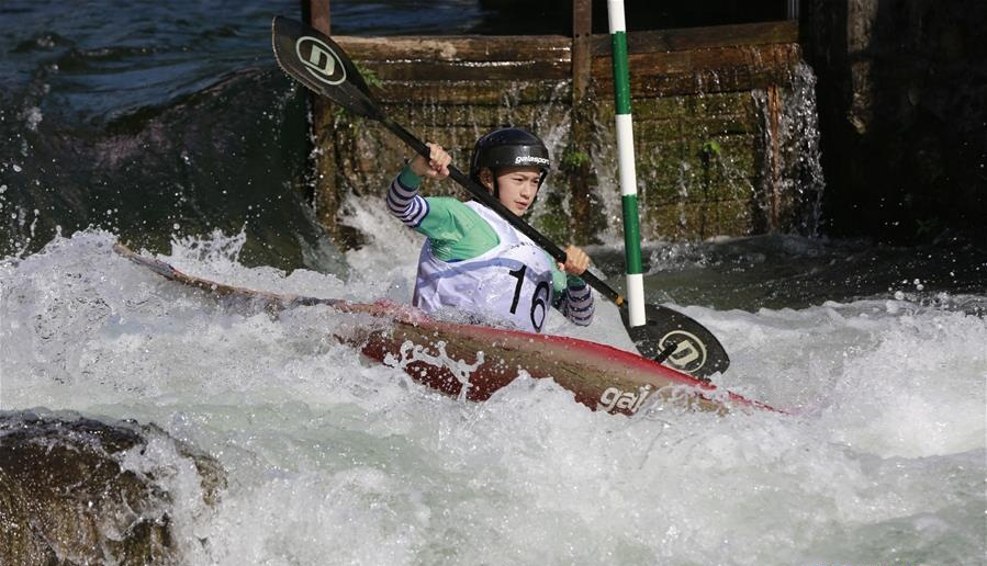 China's National Canoe Slalom Youth Championship kicks off in Zhangjiajie, Hunan Province