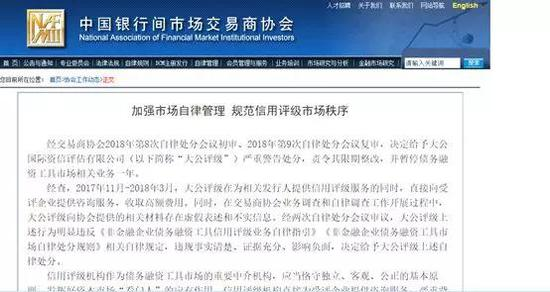 China's Dagong punished for ethics breach