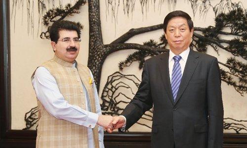 China's top legislator meets Pakistan's Senate chairman