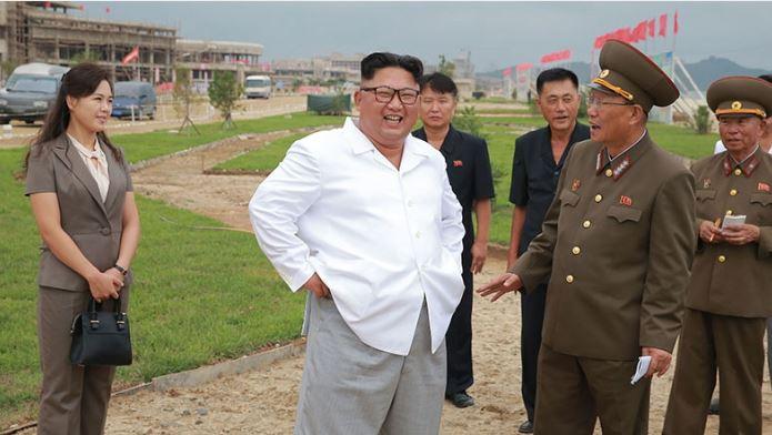 Kim Jong Un blasts 'brigandish' sanctions on visit to North Korea resort