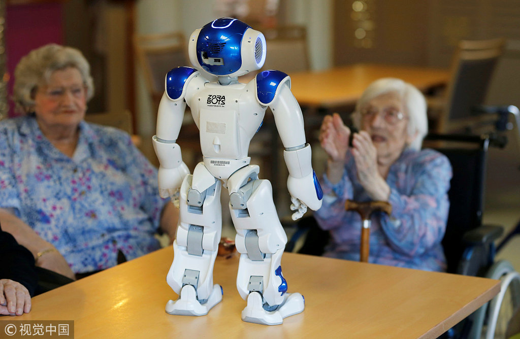 Senior care robots look after China's elderly