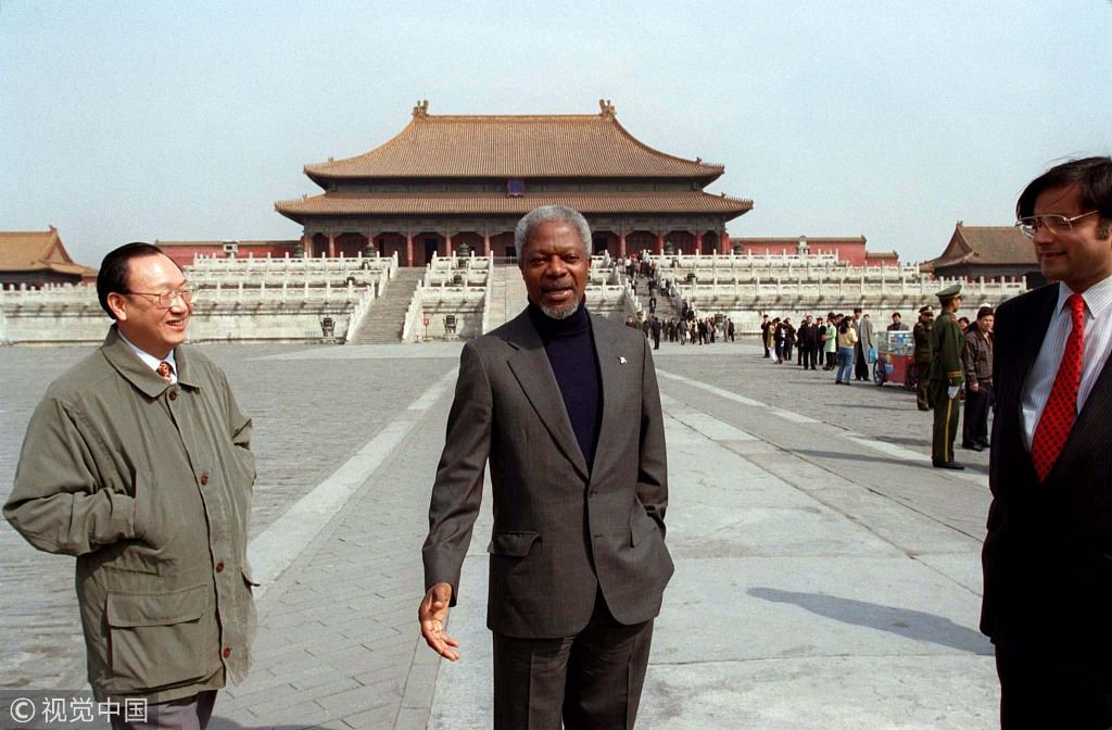 Former UN secretary-general Kofi Annan in China
