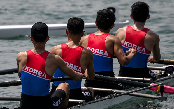 Unified Korean rowing team finishes last in Asiad debut