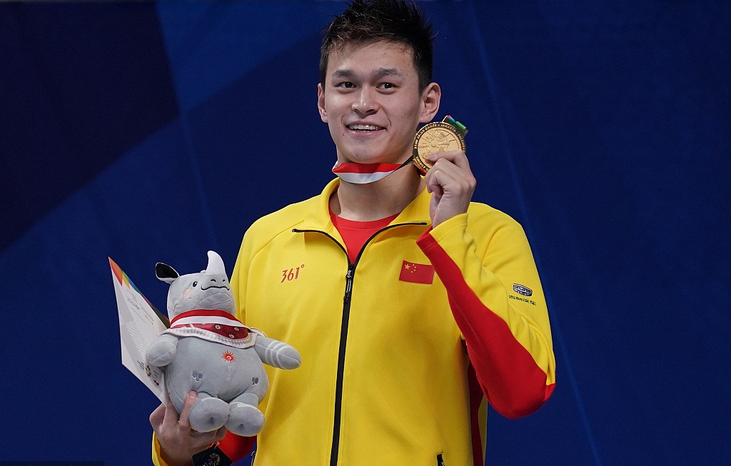 Sun Yang adds 200m free title to make Golden Grand Slam