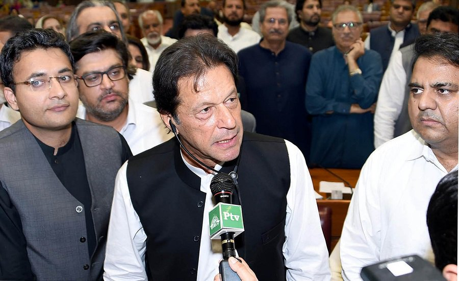 Pakistani new PM addresses nation, vows to bring reforms