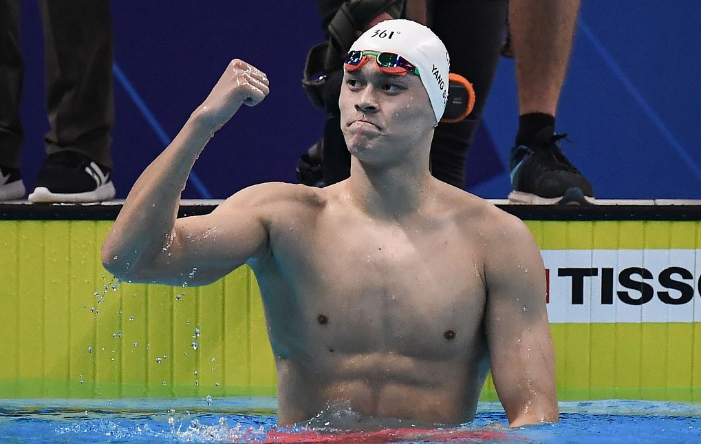 Sun Yang wins men's 800m freestyle in record time