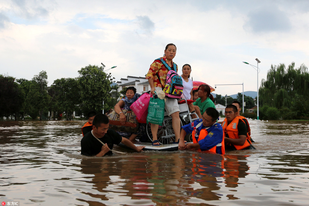 Villagers safely transported from flooded village
