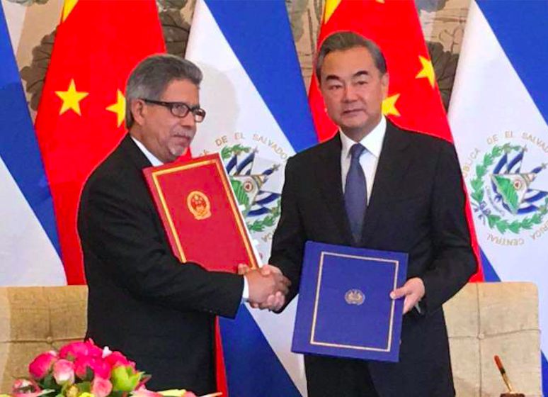 China, El Salvador establish diplomatic relations