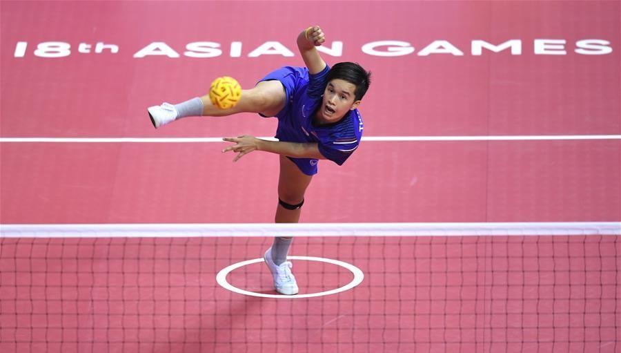 In pics: Women's Team Regu semifinal of sepak takraw at Asian Games