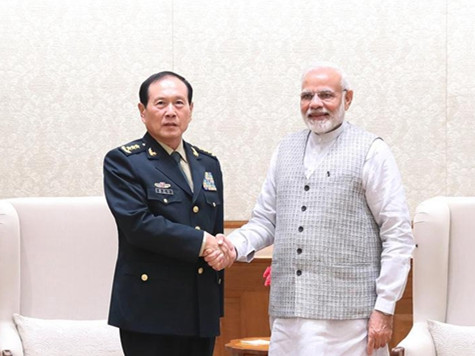 China, India vow to strengthen military exchanges