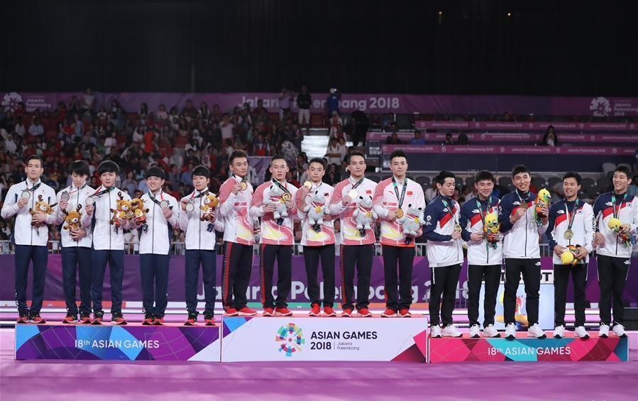 China wins Artistic Gymnastics Men's Team Final at Asian Games 2018