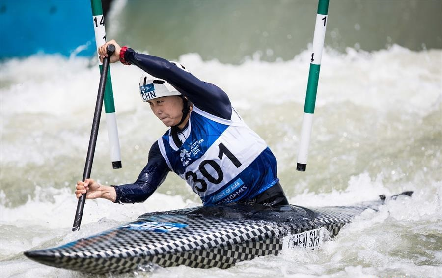 Chen Shi of China claims title of Women's Canoe Single at 18th Asian Games