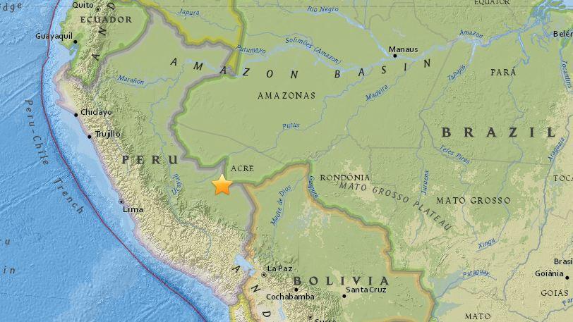 M7.1 earthquake hits Peru-Brazil border