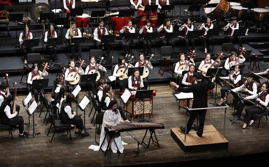 Youth orchestra brings Chinese music to US campus