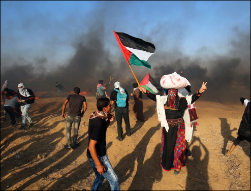 Over 180 Palestinians injured in clashes with Israeli soldiers in Gaza