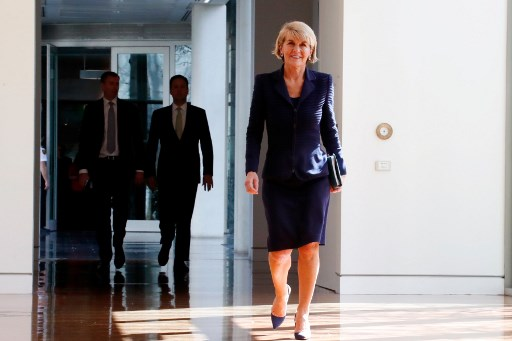Julie Bishop resigns as Australia's foreign minister