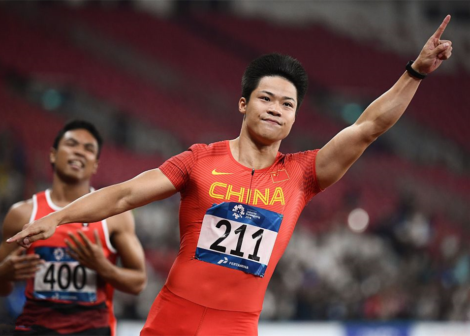 Su Bingtian wins men's 100m gold in 9.92 seconds at Asian Games
