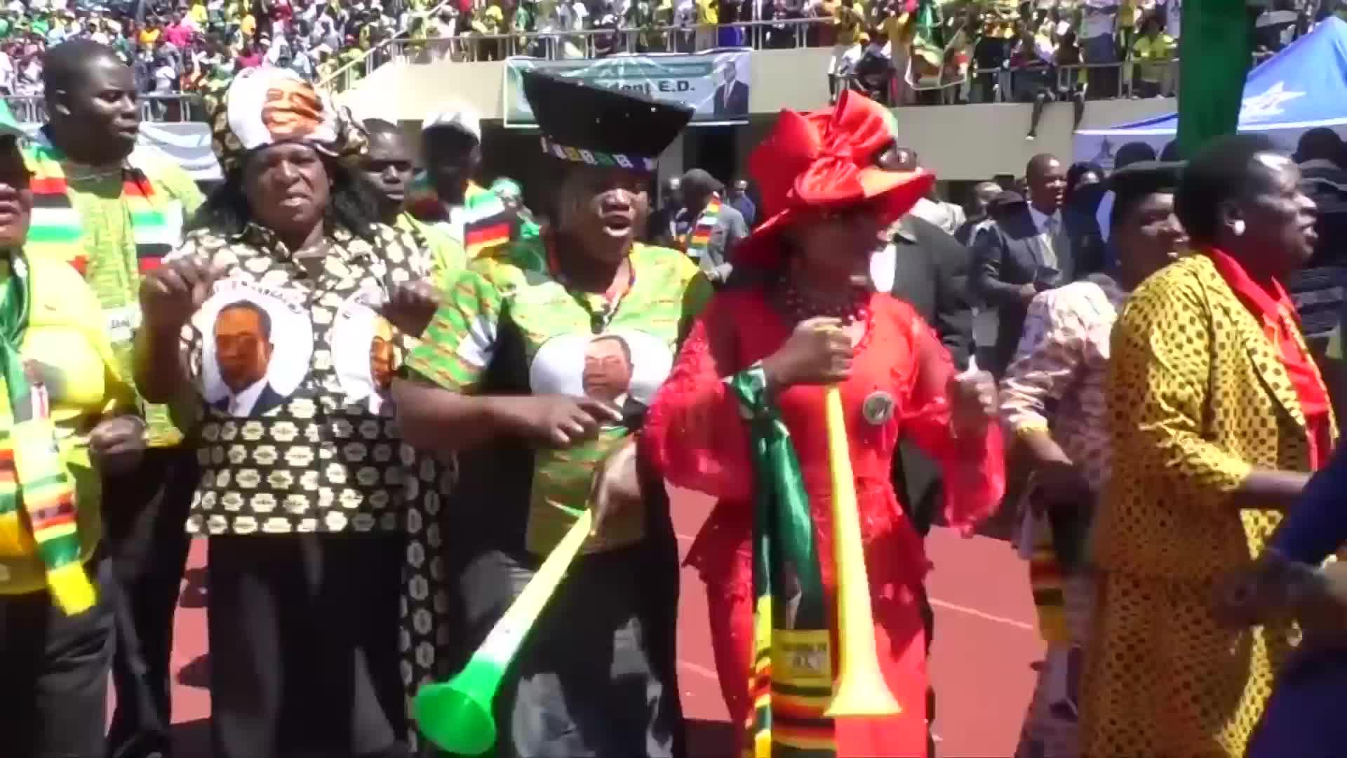 Video: Zimbabwe's Mnangagwa was sworn in