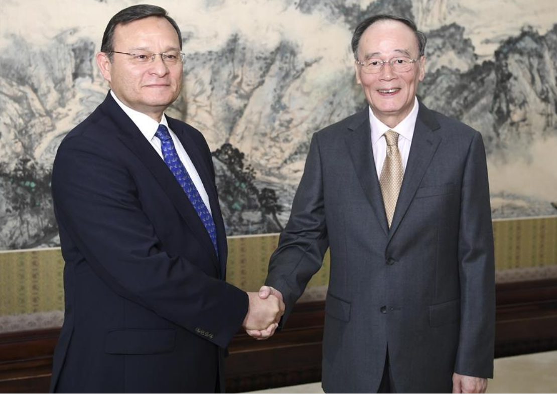 Chinese vice president meets Peruvian FM