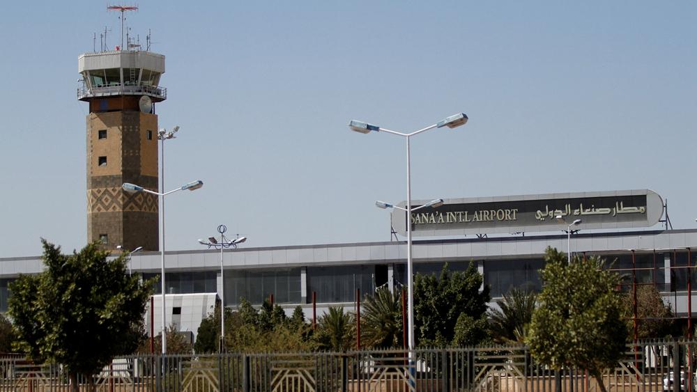 Intense air strikes target Yemen airport