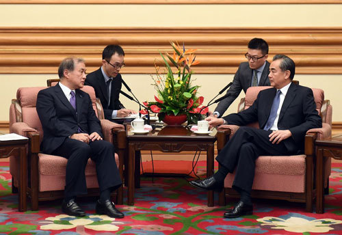 Chinese State Councilor meets Japanese guest