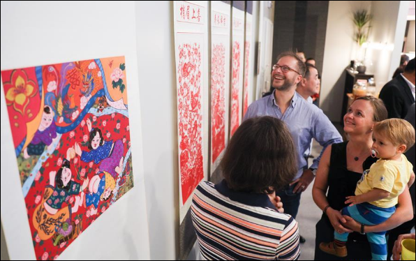 Exhibition on folk arts of China's Hebei held in Brussels, Belgium