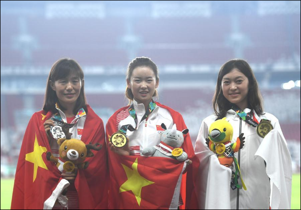 China remains top of Asiad athletics medal tally with 2 more golds