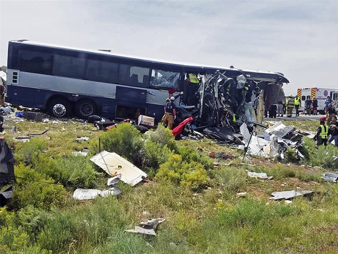 At least 7 killed from bus crash in US state of New Mexico