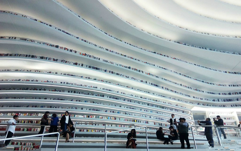 Tianjin Binhai Library is among the top 100 destinations: TIME magazine