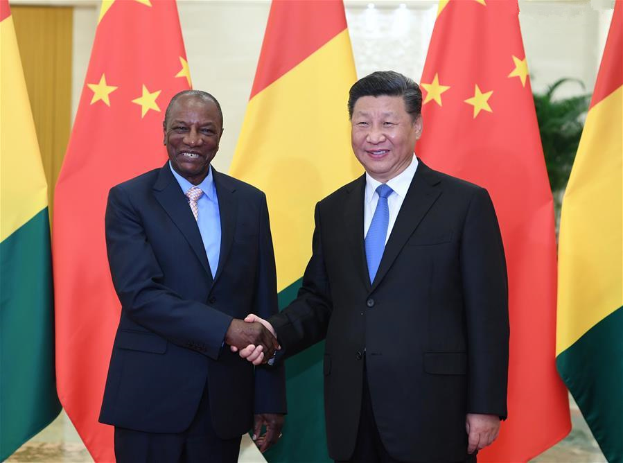 Xi meets Guinean president