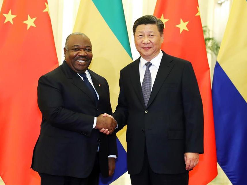 Xi meets Gabonese president