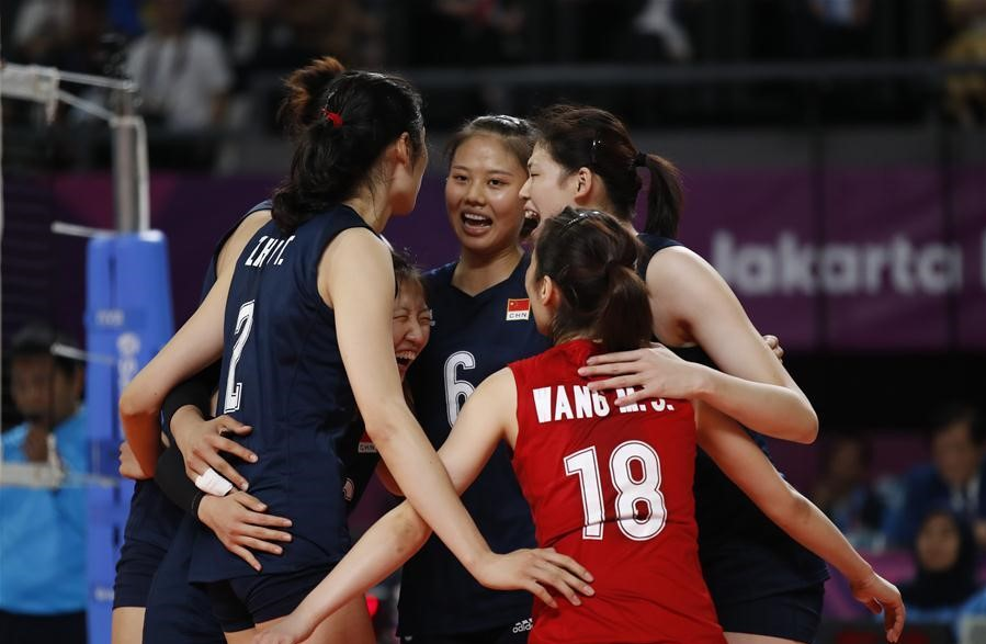 China beats Thailand 3-0 to claim women's volleyball crown in Asiad