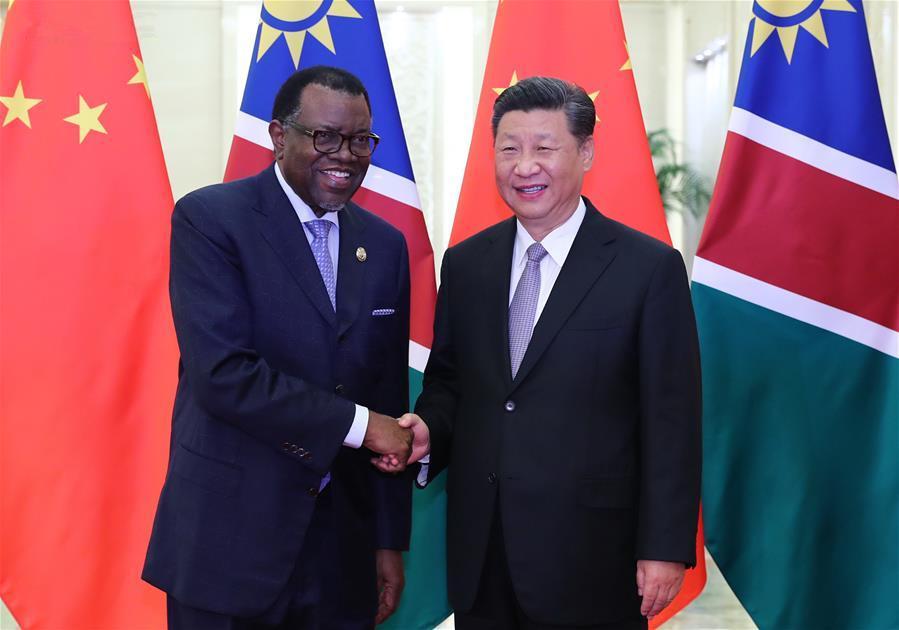 Xi meets Namibian president