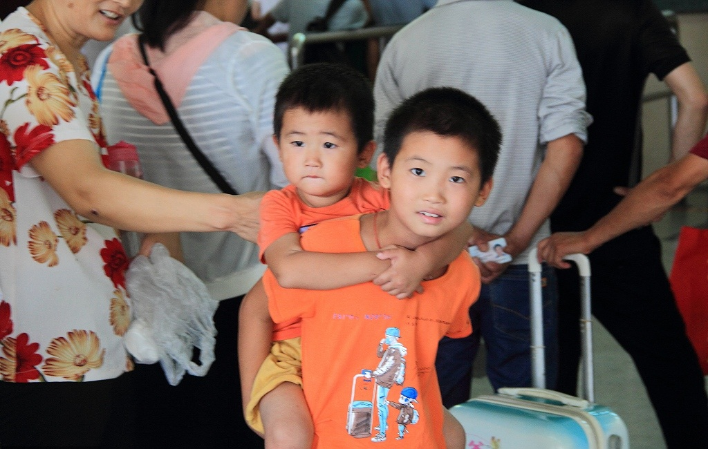 Number of left-behind children falls by 23 pct