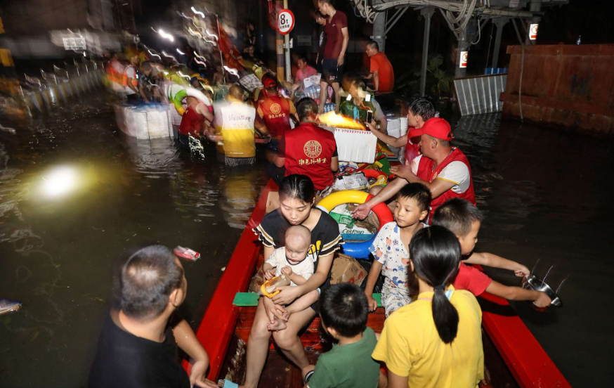 Heavy rain creates havoc in southern China's Guangdong Province