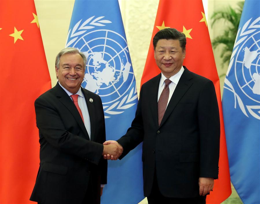 President Xi meets UN chief