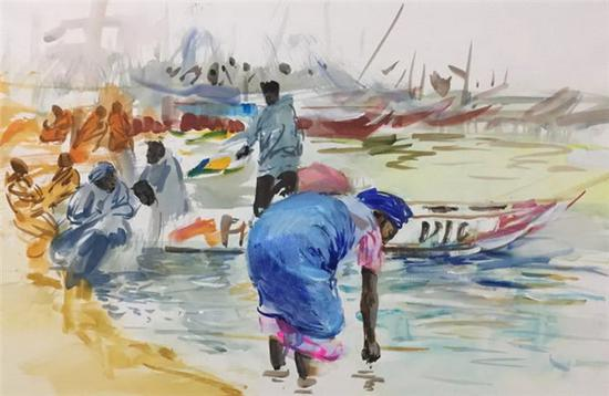 Paintings reflect Africa in Chinese artists' eyes