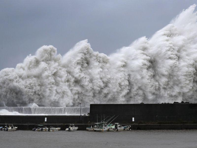Typhoon Jebi hits Japan, strongest in 25 years: weather agency
