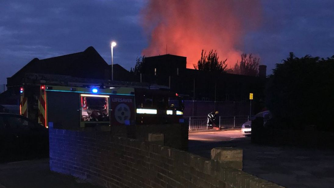 80 firefighters battling fire at London primary school