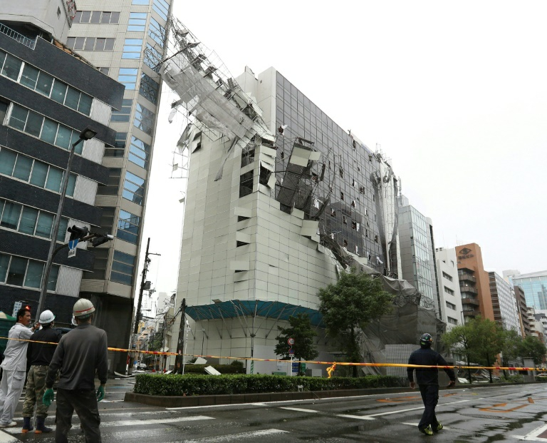 2 killed, scores injured as most powerful typhoon in 25 years strikes Japan