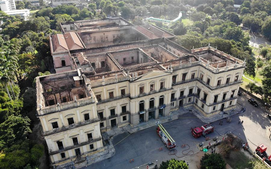 In pics: Brazil's National Museum after fire in Rio de Janeiro