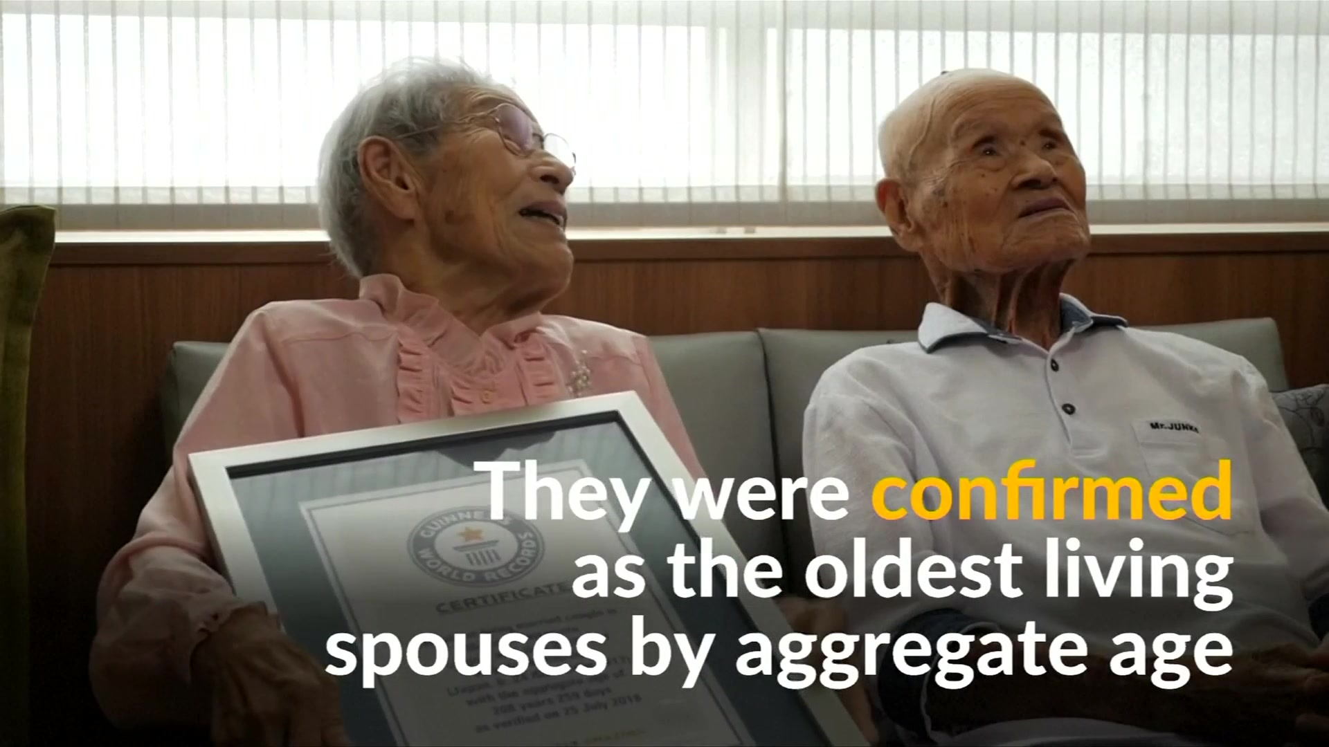 Video: Oldest couple in the world says patience is key to their successful marriage
