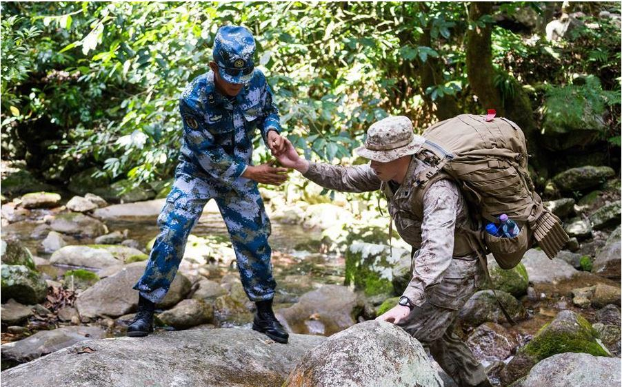 Chinese marines debut in trilateral training mission, earning appraisal from counterparts